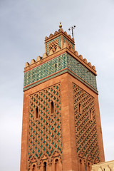 Minaret in Marrakech, Morocco