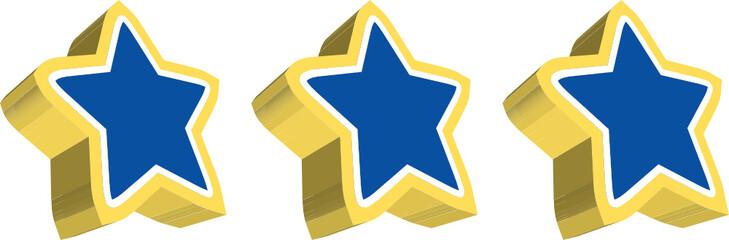 stelle blu e oro