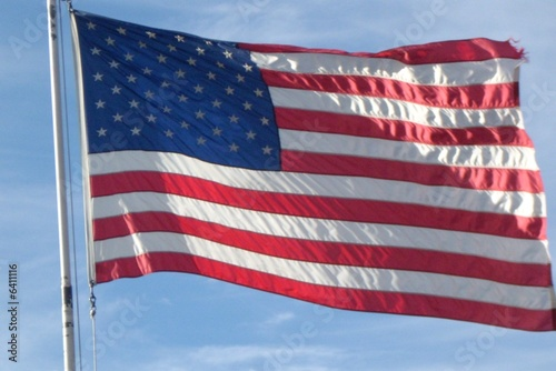 Full Size Flag on Pole