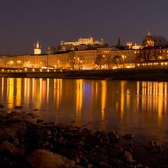 Night view of Salzburg, Austria