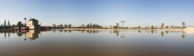 Pavillon de la Ménara, Marrakech, Maroc.