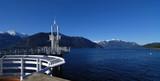 dock at porteau cove marine park, british Columbia poster