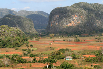 The Viñales valley  a UNESCO  world heritage site in Cuba