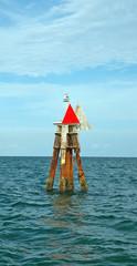 Channel Marker off the Coast of Miami
