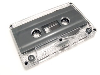 Single audio cassette at the white background