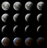 Digitally Enhanced Moon Eclipse in Brazil, February 2008 poster