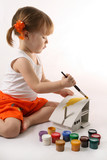 Home Improvement - Little Girl repairs. poster