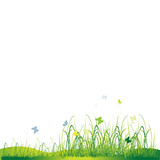 Grass silhouette green, summer background-