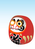 japanese daruma (dharma) New Year wish toy poster