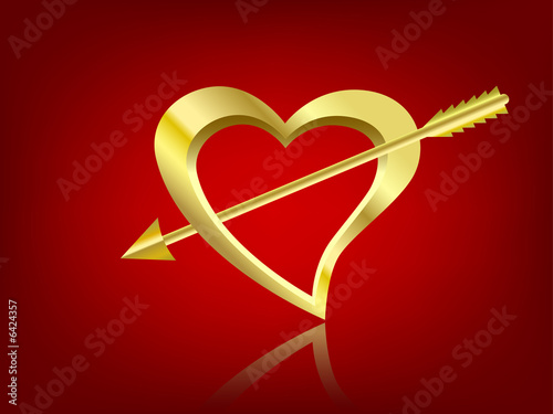clipart heart with arrow. clipart heart with arrow.