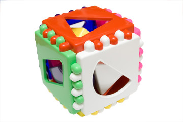 baby logical cube on the isolated background