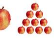 triangle de pommes