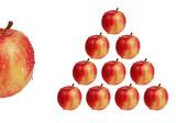 triangle de pommes poster