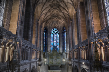Lady Chapel inside Liverpool Cathedral,  England