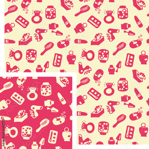 seamless patterns - bathroom