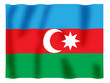 Fluttering image of the Azerbaijan national flag..