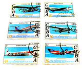 collection of cuba post stamps poster