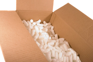 Cardboard Box with foam packing material