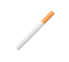 One cigarette isolated over white background