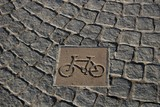 road markings, bicycle track poster