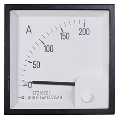 The white modern industrial ammeter