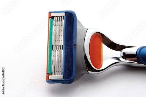 Sharp razor on white background