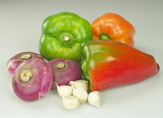 Peperoni rape e aglio