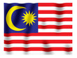Fluttering image of the Malaysian national flag.