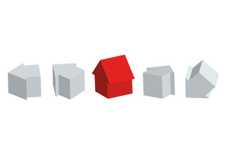 Your house amond others houses