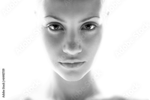 Fine art portrait of elegant girl. Studio photo. Beautiful woman