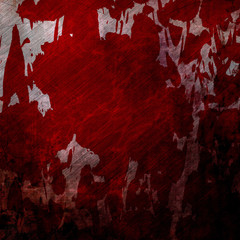 Bloodied grunge wall