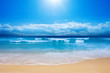 canvas print picture Gorgeous Beach in Summertime
