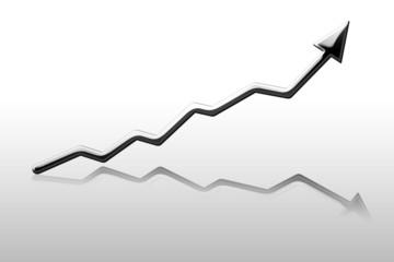 Silver arrow graph showing success