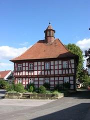Fachwerkhaus in einem Dorf im Frankenland