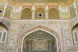 Ornate Entrance to Palace in Amber Fort, Jaipur poster