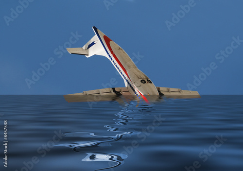 Plane crash at sea