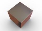 Simple geometrical figure. 3d poster