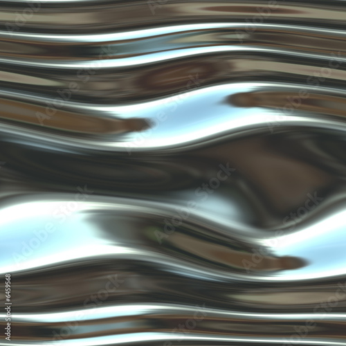 A shiny, chrome background- very fluid-like and liquid looking. t-shirt