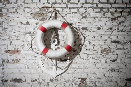 bou e ancre marine mer cordage brique bateau photo libre de droits sur la banque d 39 images. Black Bedroom Furniture Sets. Home Design Ideas