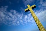 croix crucifix chrétien religion ciel catholique nuage dieu poster