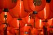 Leinwanddruck Bild - chinese paper lantern diagonal