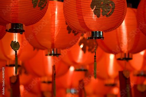 Poster chinese paper lantern diagonal