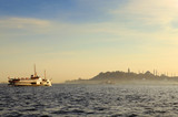 Ferry in the Bosphorus ( Istanbul/Turkey )... poster