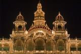 Mysore Palace Illuminated at Night poster