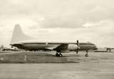 Vinage turboprop airliner poster