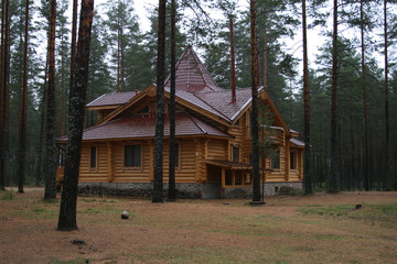 russian wood house