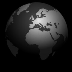 vecteur série - planète terre - le monde sur un fond noir