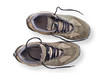 Worn walking shoes with clipping path