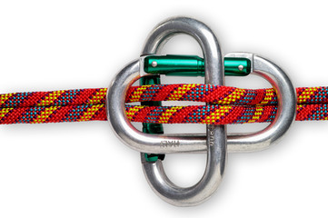 Mountaineering: carabiner brake  - with clipping path