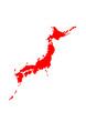 Japan Landkarte Umriss
